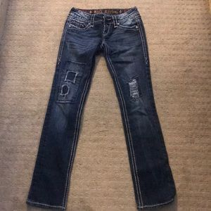 Rock revival ripped skinny jeans